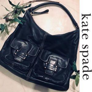 KATE SPADE // Leather Double Front Pocket Hobo Bag